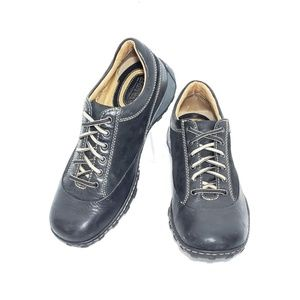 Born Oxford Sneaker Black Leather Shoes Size 8.5